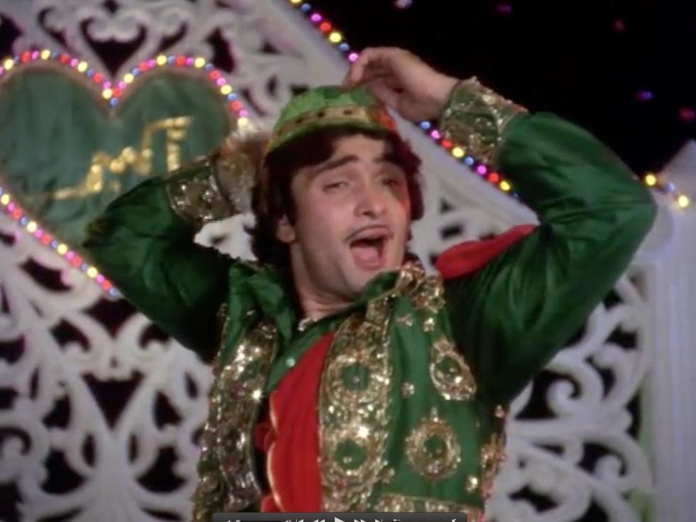 Rishi Kapoor Amar Akbar Anthony Bollywood Qawwali