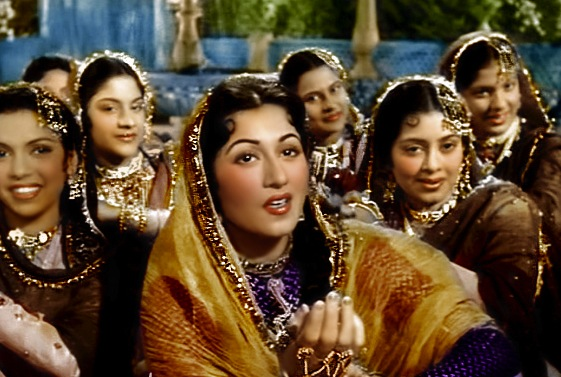 "Madhubala impresses the Mughal prince in the classic qawwali ""Teri"