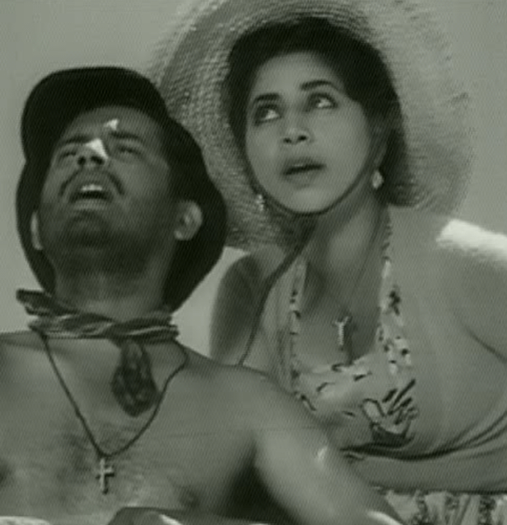 Shirtless Guru Dutt