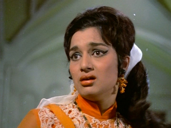 retro bollywood hairstyles from caravan (1971): wigs