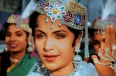 , being sassy as she sings a classic qawwali in Mughal-e-Azam (1960