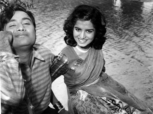 An adorable early rare photograph of Dev Anand with his wife Kalpana Kartik.