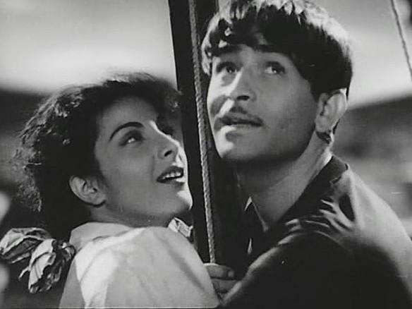Raj Kapoor and Nargis Awara Dum Bhar Jo Udhar