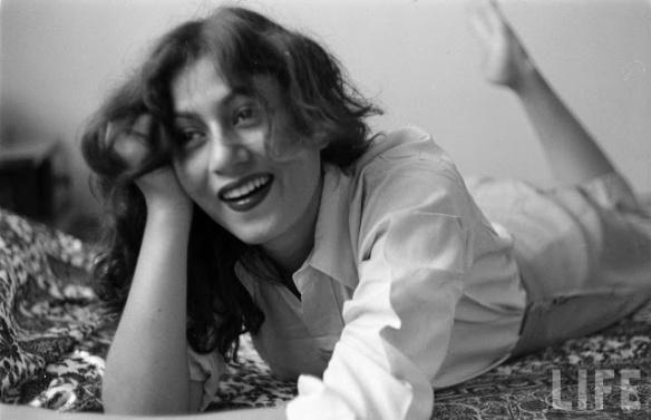 Rare vintage photograph of Indian actress Madhubala by LIFE magazine