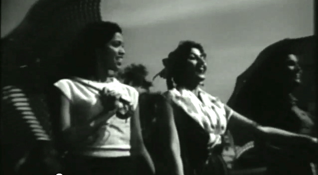 Madhubala and friends in Mr. and Mrs. 55 (1955).