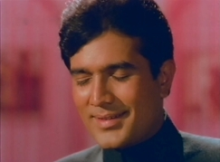 With a devastating close-up shot, Rajesh Khanna displays the full range of his eyelashes.