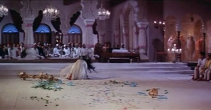 Flinging herself onto the floor, Pakeezah's hair swirls like a madwoman.