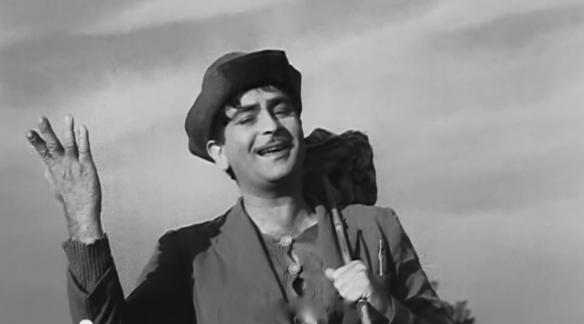 Raj Kapoor Shree 420 Charlie Chaplin