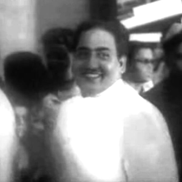 Mohammed Rafi at the Mother India (1957) premier