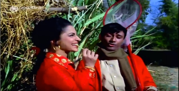 Shokhiyon Mein Ghola Jaaye Waheeda and Dev Anand sugarcane