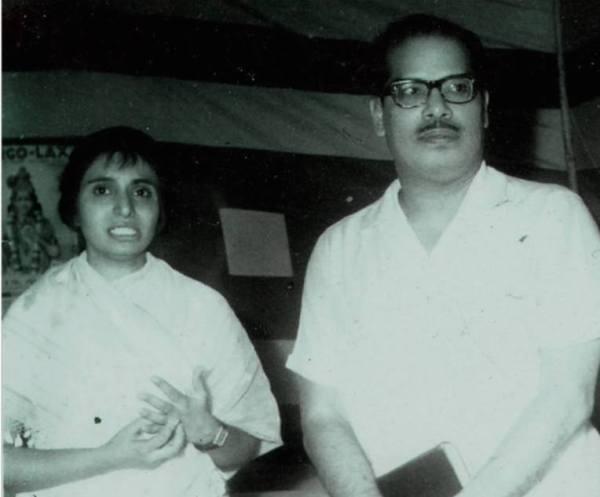 Minoo Purushottam and Manna Dey