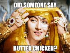 Madhubala butter chicken meme bollywood