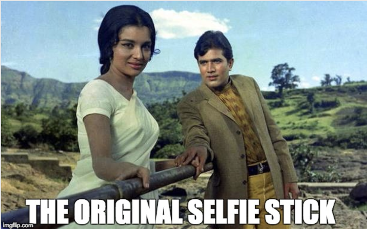 Selfie Stick Bollywood Meme Kati Patang Rajesh Khanna Mr Mrs