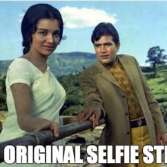 Selfie stick Bollywood meme Kati Patang Rajesh Khanna