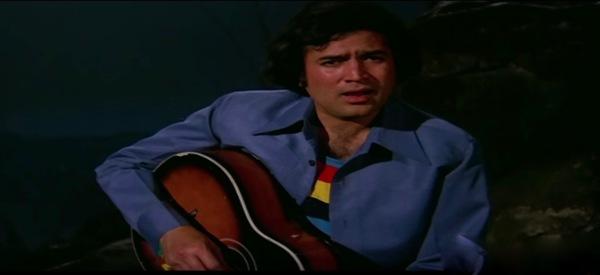 Rajesh Khanna rainy guitar mere naina sawan bhado