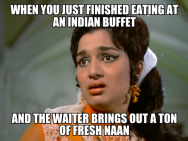 Asha Parekh indian buffet meme