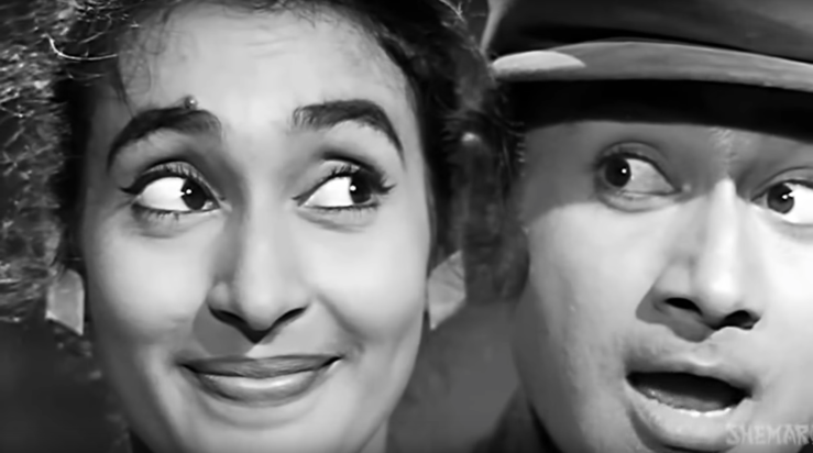 Dev Anand and Nutan in Paying guest