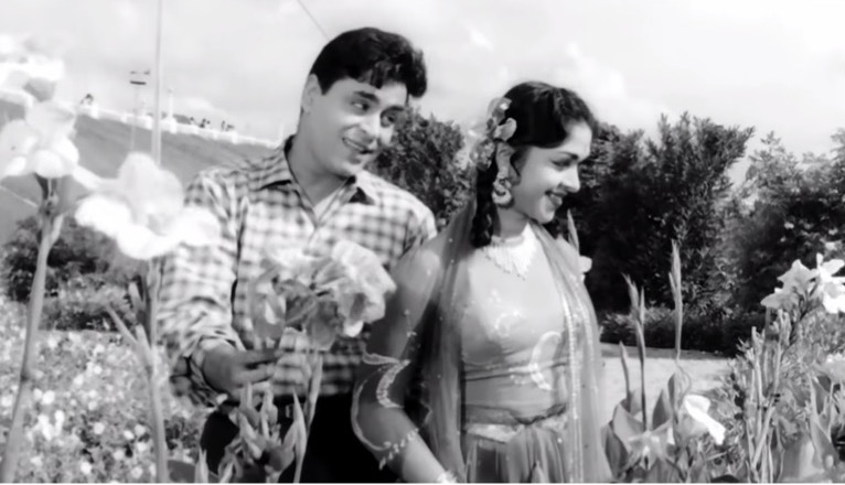 Rajendra Kumar and Saroja Devi in