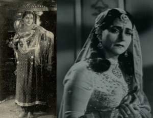 Sulochana or Ruby Myers as Anarkali and Queen Jodha