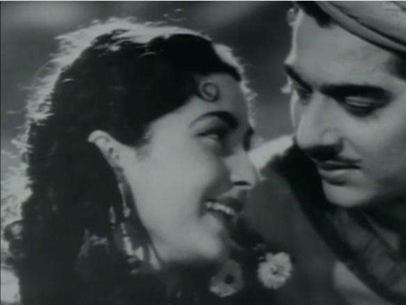 Pradeep Kumar and Bina Rai star in Anarkali 1953.png