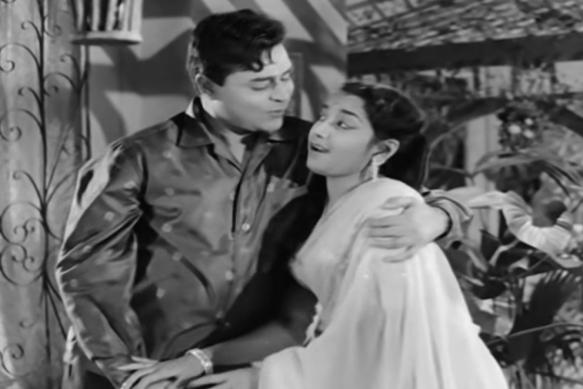 Rajendra Kumar and Jamuna star in Hamrahi (1963).png