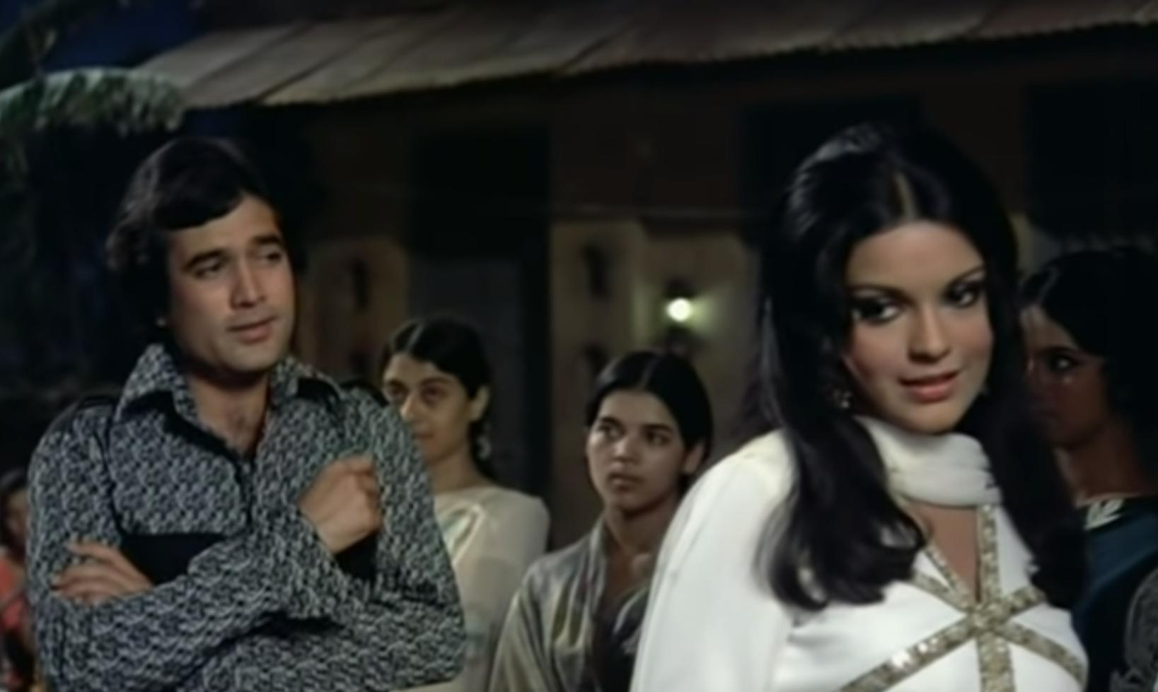 Rajesh Khanna and Zeenat Aman in Ek Anjabi Haseena Se